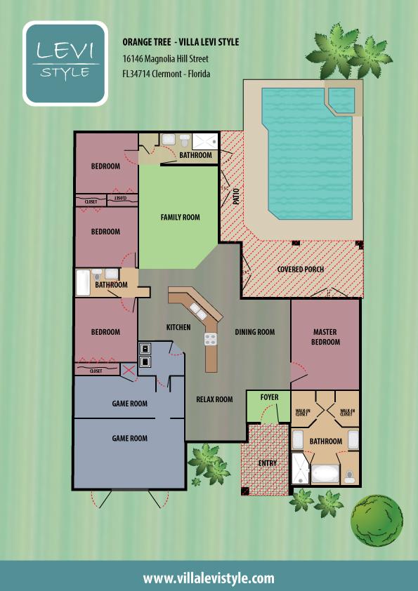 Floorplan Villa Levi Style